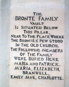Charlotte Bronte's grave, St Michael and All Angels Churchyard, Haworth  West Yorkshire, England