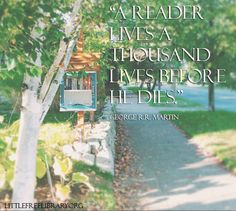 Find more awesome quotes and resources at www.littlefreelibrary.org/ourblog Little Free Libraries, Free Library, Library Inspiration, Library Ideas, Quotes For Book Lovers, Book Quotes, Literacy Quotes, Beyond Words, Book Nooks