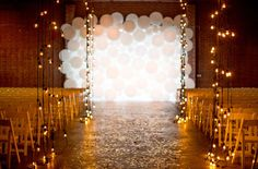 balloon wall for the ceremony backdrop!