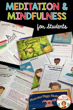 Are you interested in teaching your students about mindfulness and/or meditation?  These activities and exercises are easy to use and can be applied to any children's book about mindfulness or meditation!  Better yet, it can used with any ages and grade level.  This product includes original scripts for mindfulness and meditation exercises, worksheets, reflection printables, explanation posters, and more!