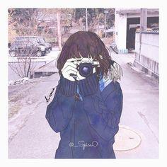 Camera drawing - Best Picture For Cameras lens For Your Taste You are looking for s Anime Art Girl, Manga Girl, Anime Girls, Aesthetic Art, Aesthetic Anime, Kawai Japan, Character Illustration, Illustration Art, Desu Desu