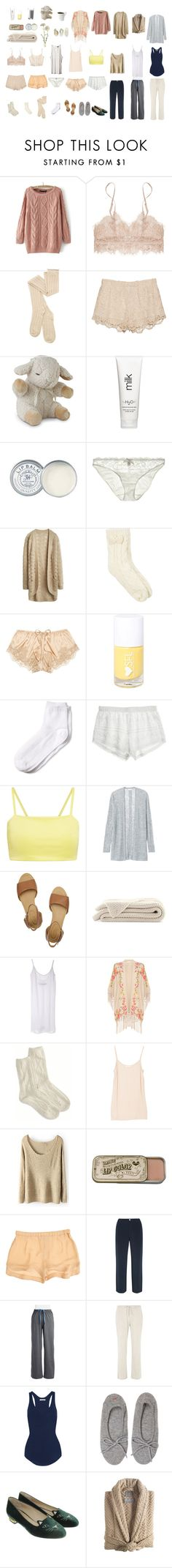 loungewear by tguillory on Polyvore featuring Rebecca Taylor, Étoile Isabel Marant, Enza Costa, Hue, Dorothy Perkins, Sleepy Jones, Monsoon, Joie, A.L.C. and Kassatex