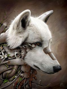 Wild 1 - The Wolf (Peinture numérique)