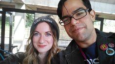 Megan O'Brien ( meobrien.com ) (megaobri.tumblr.com) and Leo Faierman  ( snowdazecomic.com ) at SPX 2014!  #snowdaze #IndieComics #ComicBooks #SPX2014 #BookArts