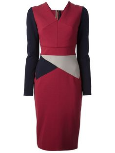 ROLAND MOURET - fitted panel dress 6