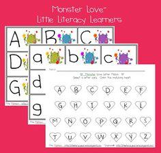Little Literacy Learners: Valentine Monster Love