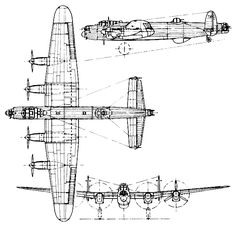 halifax bombardero | three-view drawing (664 x 646)