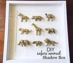 DIY Safari Animal Shadow Box - adorable and super-easy idea for nursery wall decor!