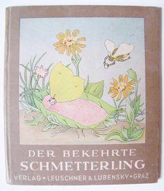 1948 Vintage German CHILDREN BOOK Butterfly Erna Scholz