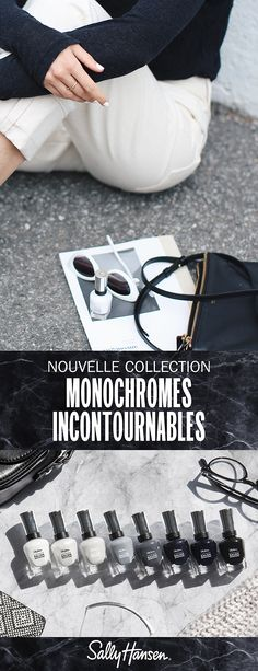 Monochromes Incontournables | Complete Salon Manicure Keratin Complex, Nails Today, Strong Nails, Finger Painting, Salons, Manicure, Cleaning, Collection, Black