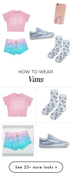 """Friend Outfit- Unicorn Addict"" by lexi001 on Polyvore featuring Forever 21, Topshop and Vans"