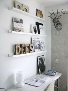 offene Wandregale komplett in Weiß für Bücher und Bilder