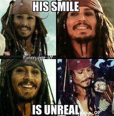 His smile