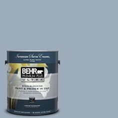 BEHR Premium Plus Ultra 1-gal. #570F-4 Blue Willow Satin Enamel Interior Paint