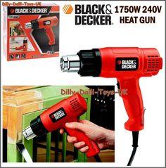 New BLACK AND DECKER KX1650 1750W Heat Gun 240V Versatile Tool Paint Stripper