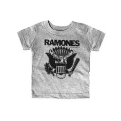 Sourpuss Ramones Hey Ho Gray Tee * Check this awesome product by going to the link at the image. (This is an affiliate link) Baby Boy Tops, Cute Baby Girl, Ho Baby, Baby Girls, Baby Bats, Rock T Shirts, Tee Shirts, Baby Boy Outfits, Kids Outfits