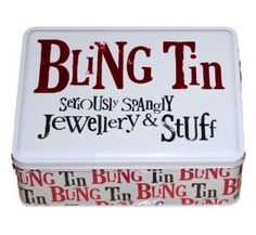 Gifts for Women - Bling Tin - seriously spangly jewellery and stuff - ideal gift for her: Amazon.co.uk: Kitchen & Home