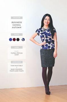 ExtraPetite.com - Wardrobe Staples Series: Styling a Sheath Dress: Business Causal Autumn