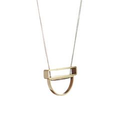 Half-moon and Rectangle Stack Necklace