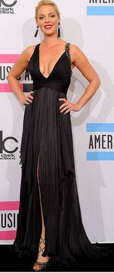 Who made Katherine Heigl's black gown that she wore in Los Angeles on November 20, 2011? Dress – Roberto Cavalli  Shoes – Jimmy Choo