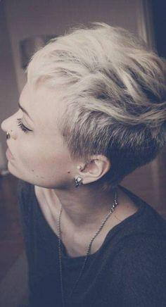 short pixie hair cut