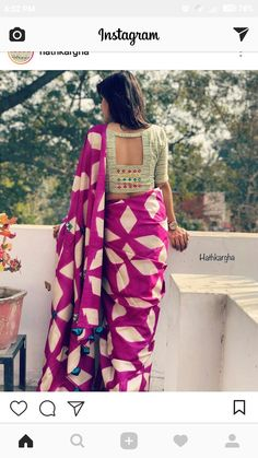 Simple Blouse Designs, Saree Blouse Neck Designs, Stylish Blouse Design, Saree Blouse Patterns, Designer Blouse Patterns, Beautiful Blouses, Indian Designer Wear, Traditional Outfits, Work Blouse
