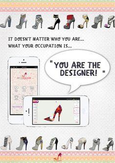 shoes design app_YOU ARE THE DESIGNER