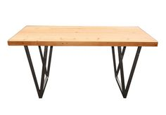 Steel and douglas fir wood table.   The V V table.