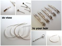 Základy pro tvorbu doplňků do vlasů Bracelets, Hair, Gold, Jewelry, Jewlery, Jewerly, Schmuck, Jewels, Jewelery