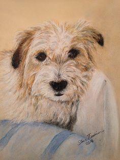 Ressu Jack russell terrier, soft pastel @ Stina Tuominen