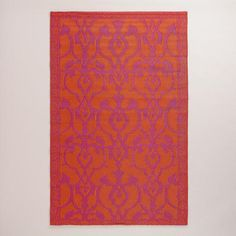 One of my favorite discoveries at WorldMarket.com: 4'x6' Red and Orange Omar Rio Indoor-Outdoor Floor Mat