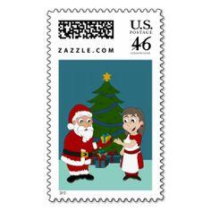 Stamp with Christmas cartoon