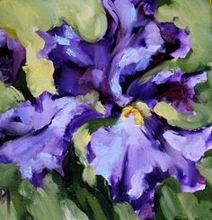 Violet Miracle Oil Painting and a Tour of Argyle Acres Iris Gardens -- Nancy Medina