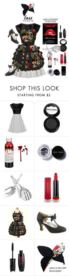 """Last-Minute Halloween Costumes"" by lence-59 ❤ liked on Polyvore featuring Manic Panic NYC, Bobbi Brown Cosmetics, Grandin Road, Max Factor, Pinup Couture, Context and lastminutecostume"