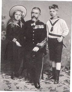 Carol I with Elisabeth and Carol of Romania, 1900 Princess Alexandra, Princess Beatrice, Prince And Princess, Queen Mary, King Queen, Von Hohenzollern, Central And Eastern Europe, Young Prince, Rare Pictures