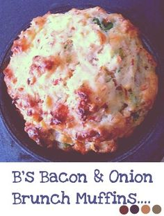 Food: B's Bacon & Onion Brunch Muffins {Sugar Free}  #recipes #muffins #savoury