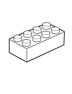Lego Brick Coloring Page #0ba5e7662