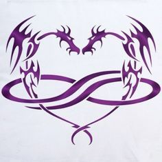 Dragon infinite heart tattoo- this would be perfect if i could find it ...