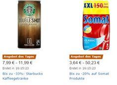 Starbucks: Kaffee-Schnäppchen bei Amazon für einen Tag zu Schnäppchenpreisen https://www.discountfan.de/artikel/essen_und_trinken/starbucks-kaffee-schnaeppchen-bei-amazon-fuer-einen-tag-zu-schnaeppchenpreisen.php Für einen Tag sind bei Amazon vier verschiedene Starbucks-Spezialitäten zu Schnäppchenpreisen zu haben: Pro Getränkt mit 200 bis 250 Milliliter zahlt man weniger als einen Euro. Das Starbucks-Spezial bei Amazon läuft nur am heutigen Freitag, solange Vorrat