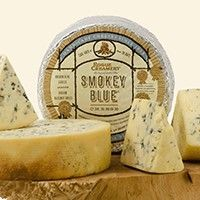 Smokey Blue Cheese - Wheel: A long, gentle cold-smoking over shells from Oregon hazelnuts infuses Rogue Creamery's Smokey Blue cheese with an added Fromage Cheese, Queso Cheese, Wine Cheese, How To Make Cheese, Making Cheese, Kinds Of Cheese, Cooking Temperatures, Cheese Shop, Melted Cheese