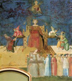 Il ciclo del Buono e del Cattivo Governo - La Bellezza di Siena - Álbumes web de Picasa. In alto la Sapienza che, con la mano destra, regge la bilancia, administrata dalla Giustizia. Sto ancora la Concordia da cui si diparte un gruppo di 24 citadini.