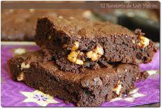 El Recetario de Lady Halcon: Brownie con nueces. Probaré esta versión, con y sin nueces