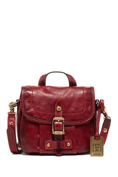 Burgundy Frye Field Small Handbag