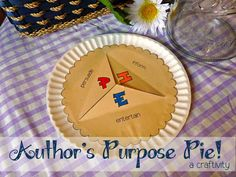 Author's Purpose Pie Craftivity $ (or make your own version for free)
