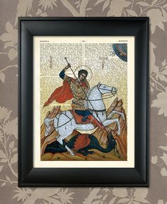 Saint George The Dragon Slayer Saint George print par AnaGenessis