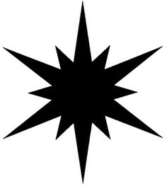 """You can order this northern star stamp, 4"""", instead of wallpaper!"""