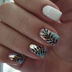 There must be your favorite nail ideas in 140 classic nail designs. - Page 10 of 139 - Inspiration Diary Elegant Nail Designs, Elegant Nails, Stylish Nails, Trendy Nails, Nail Art Designs, Nails Design, Cute Acrylic Nails, Cute Nails, My Nails
