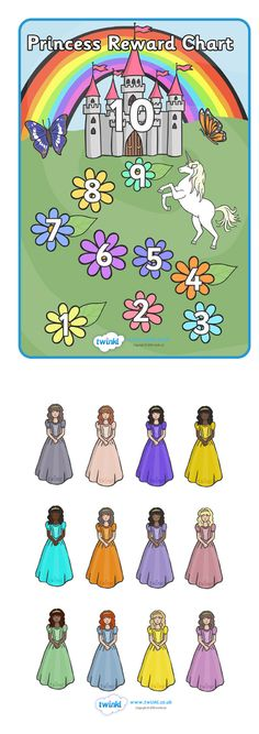 Twinkl Resources >> Princess Reward Chart  >> Thousands of printable primary teaching resources for EYFS, KS1, KS2 and beyond! fairytale, reward, award