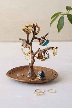 Magical Thinking Tree Ring Holder- Gold One