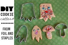 Can't get your hands on a cookie cutter in the right shape? Create your own custom shapes with this make your own cookie cutter tutorial from Heidi at My Paper Crane!